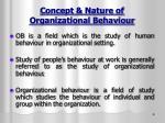concept nature of organizational behaviour