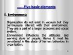 five basic elements3