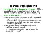 technical highlights 4
