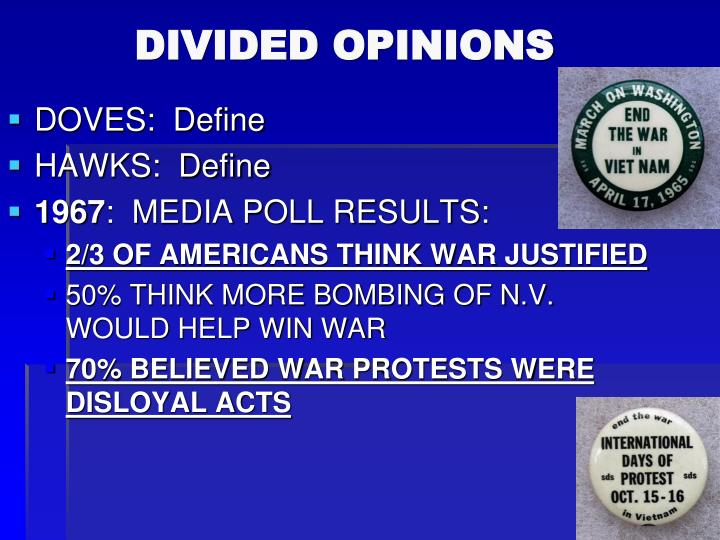DIVIDED OPINIONS