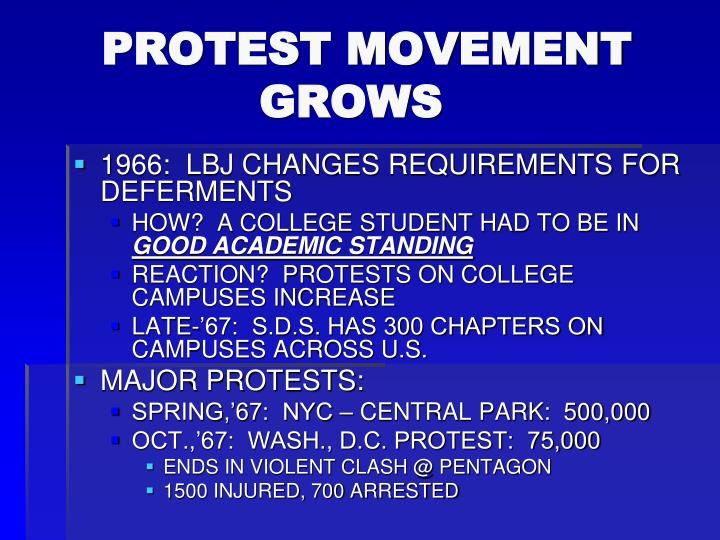 PROTEST MOVEMENT                  GROWS