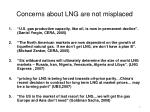 concerns about lng are not misplaced