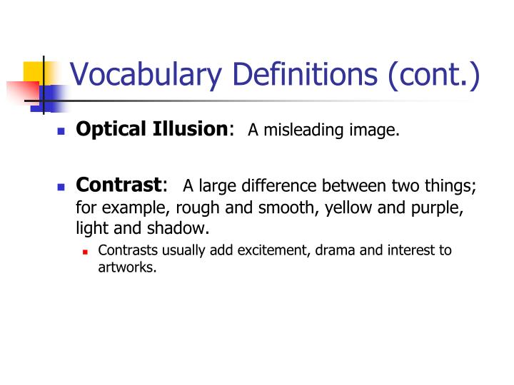 Vocabulary Definitions (cont.)