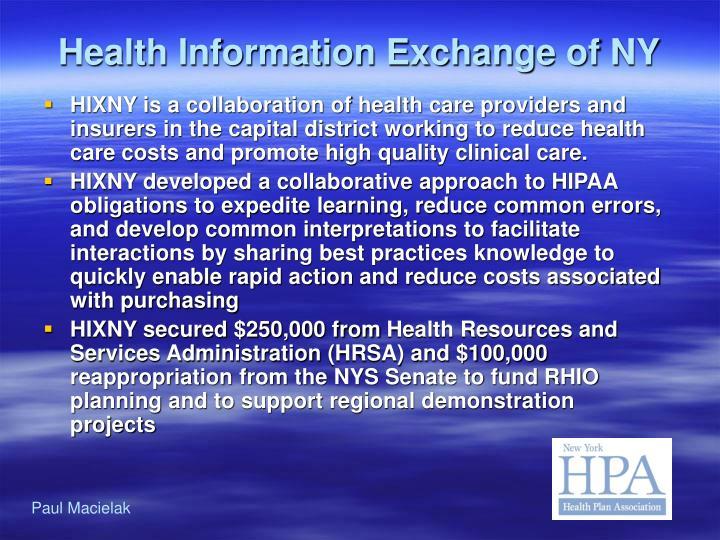 Health Information Exchange of NY