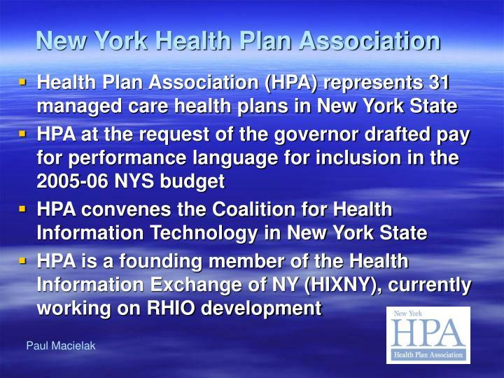 New york health plan association