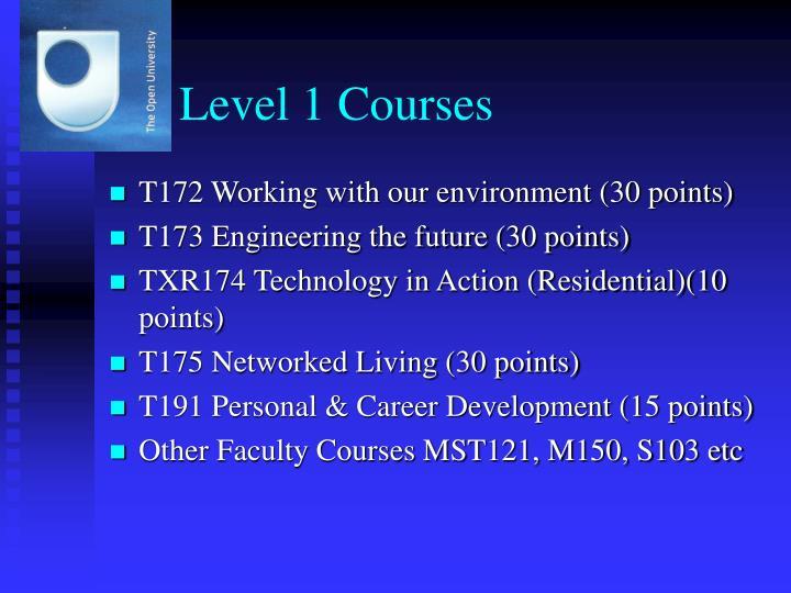 Level 1 Courses