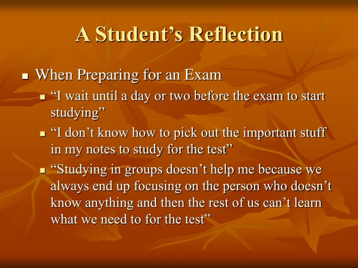 A Student's Reflection