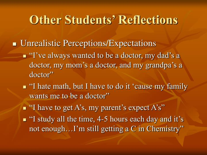 Other Students' Reflections