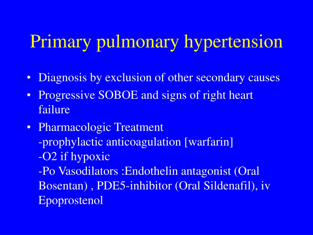 PPT - Pulmonary Hypertension and Right Heart Failure..