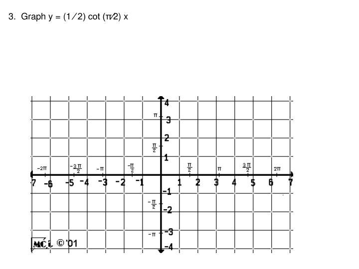 3.  Graph y = (1