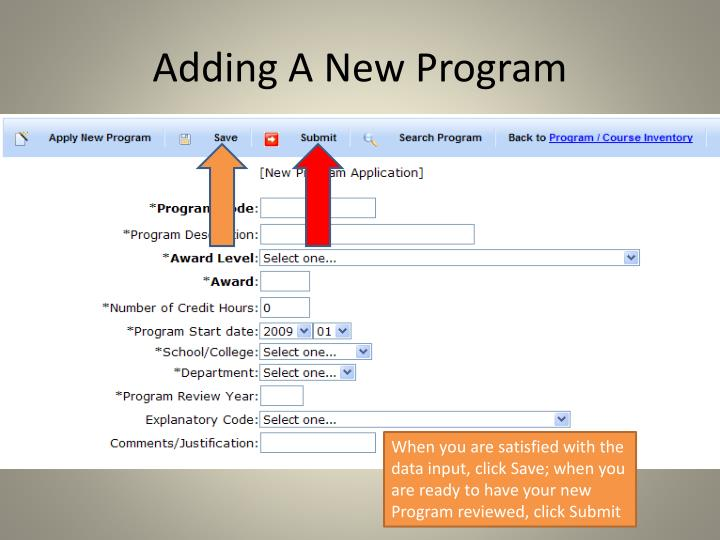 Adding A New Program