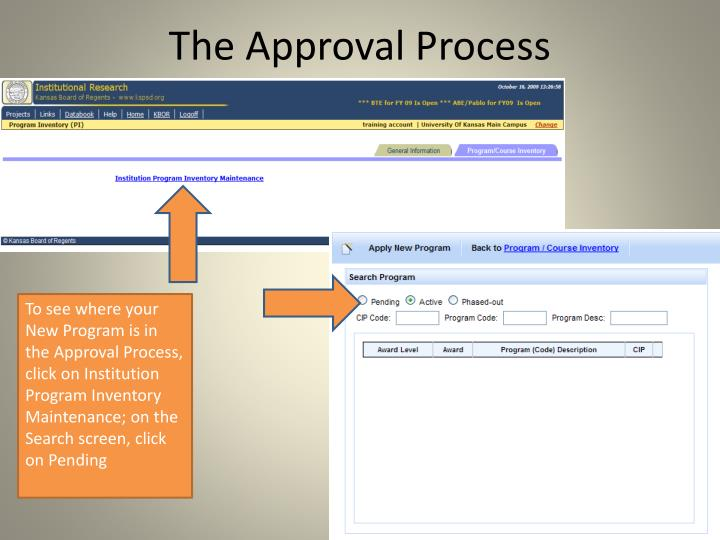 The Approval Process