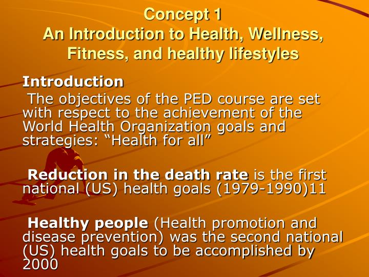 introduction to a healthy lifestyle