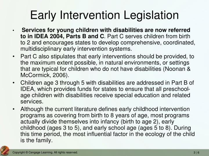 Early Intervention Legislation