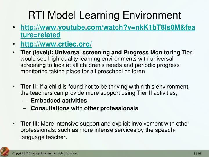 RTI Model Learning Environment