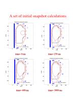 a set of initial snapshot calculations