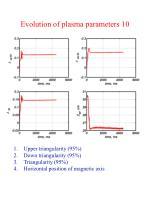 evolution of plasma parameters 10