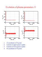 evolution of plasma parameters 11