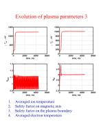 evolution of plasma parameters 3