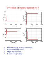 evolution of plasma parameters 4