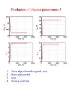 evolution of plasma parameters 5