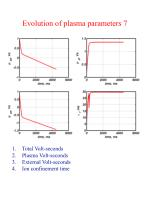 evolution of plasma parameters 7
