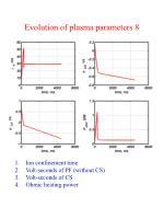 evolution of plasma parameters 8