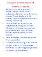 techniques used for creation pf scenario continue