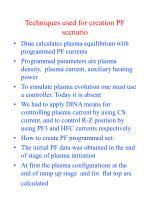 techniques used for creation pf scenario