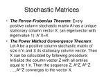 stochastic matrices1
