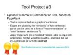 tool project 3