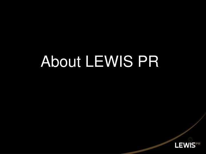 About lewis pr