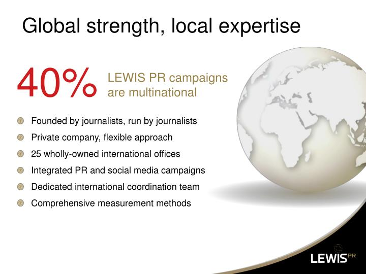 Global strength local expertise