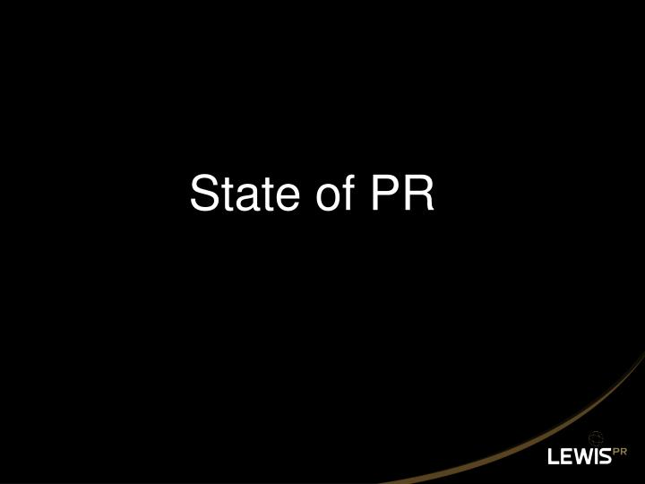 State of PR
