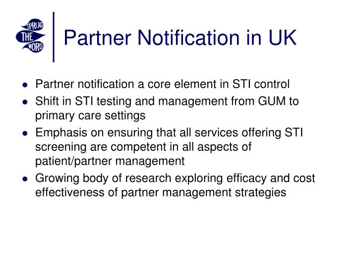 Partner notification in uk