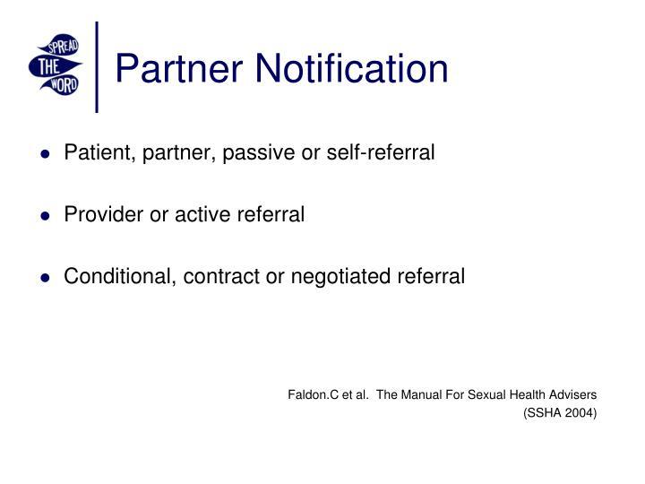 Partner Notification