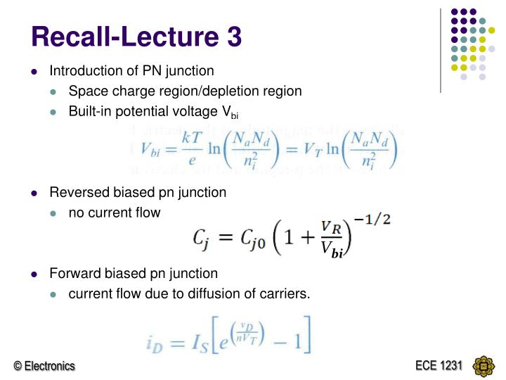 Recall lecture 31