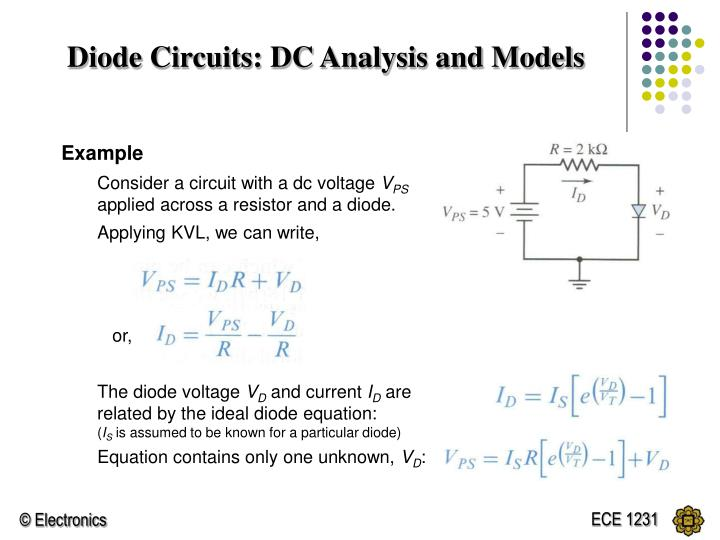 Diode Circuits: DC Analysis and Models