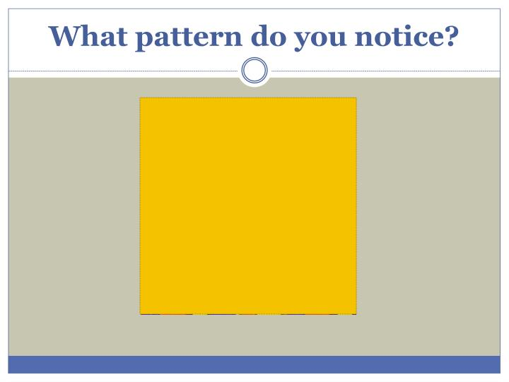 What pattern do you notice?