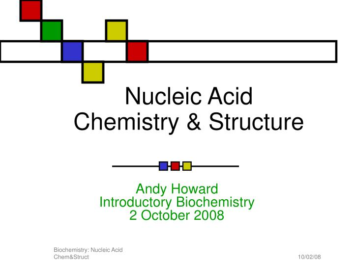 nucleic acid chemistry structure