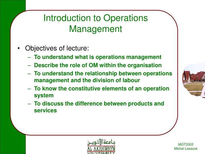 PPT - Introduction to Operations Management PowerPoint Presentation