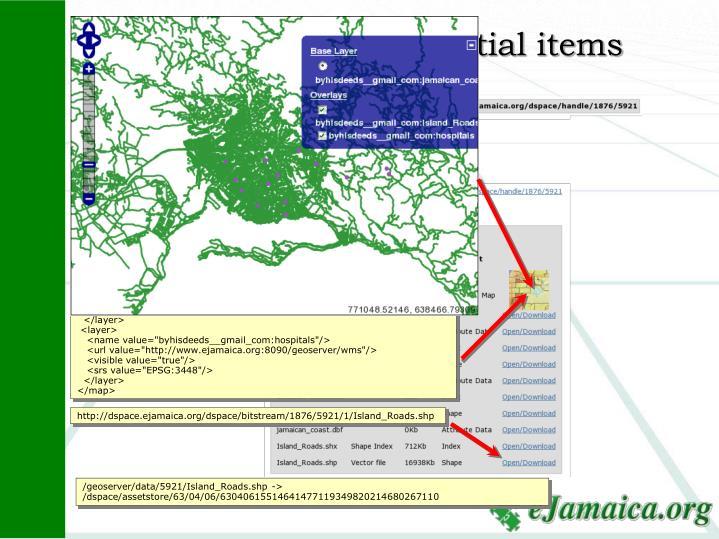 WMS Server for spatial items