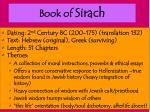 book of sirach