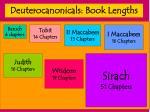 deuterocanonicals book lengths