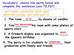 vocabulary choose the words below and complete the sentences see tb p37