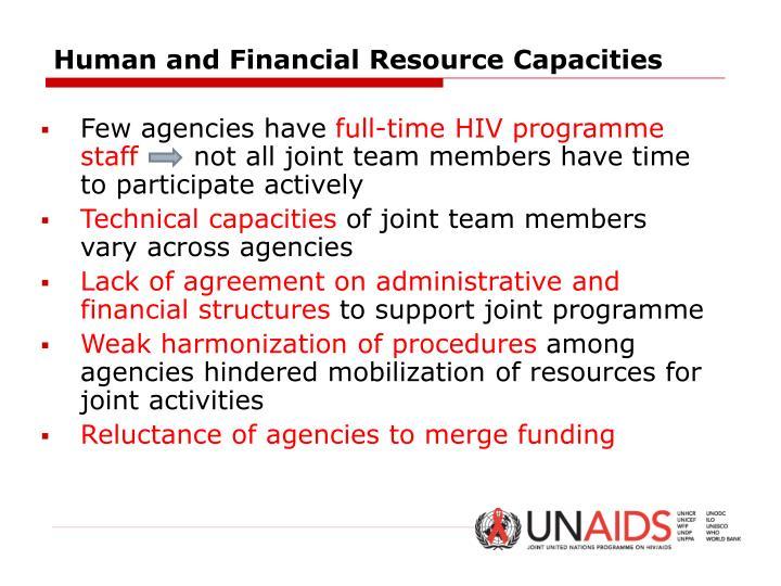 Human and Financial Resource Capacities