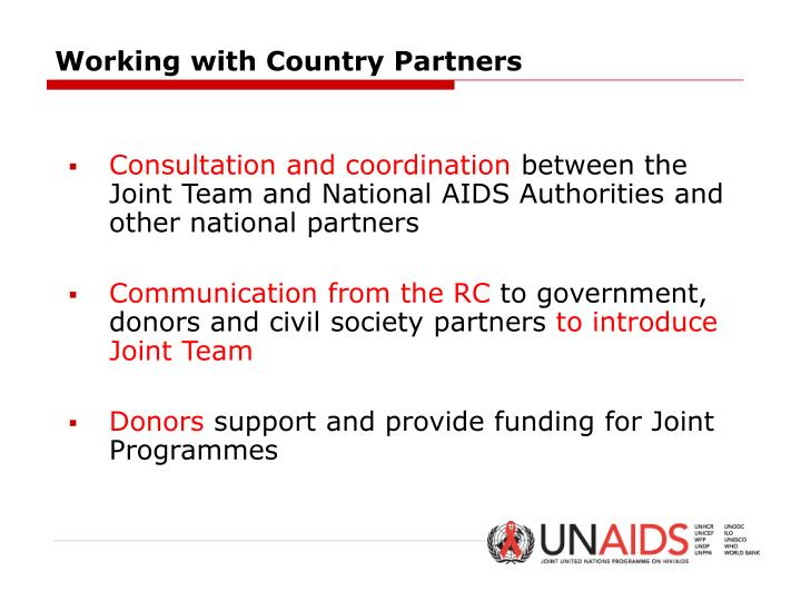 Working with Country Partners