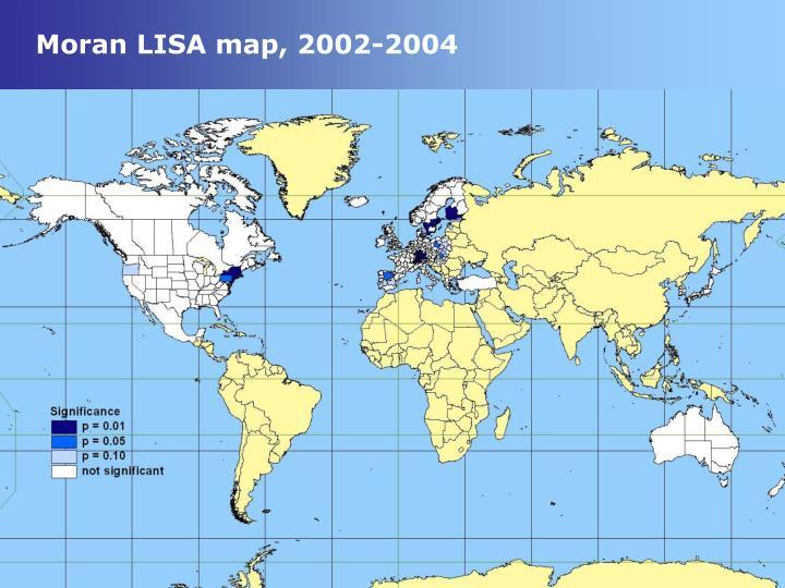 Moran lisa map 2002 2004