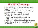 hiv aids challenge