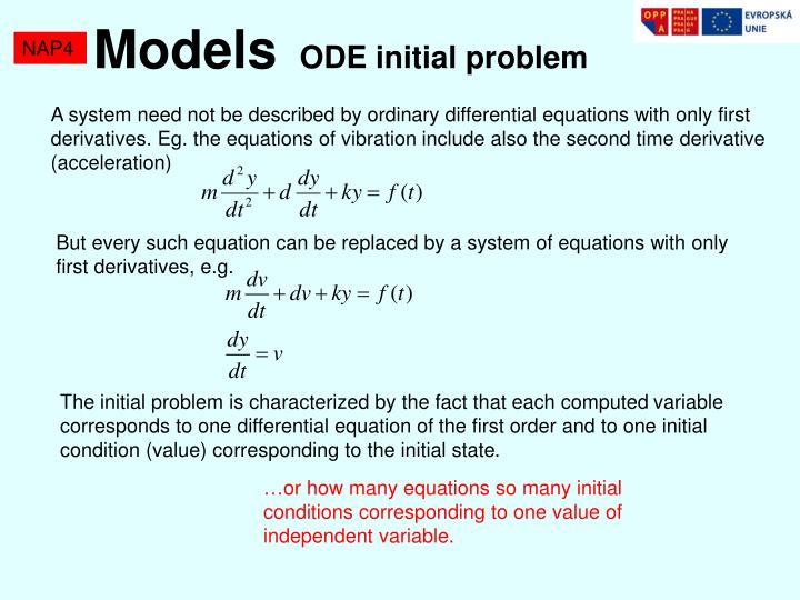 Model s ode initial probl e m1